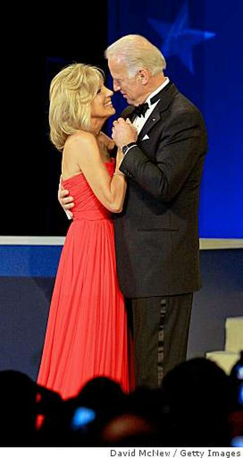 U.S. Vice-President Joe Biden dances with his wife Jill Biden at the Mid-Atlantic Inaugural Ball at the Washington Convention Center on January 20, 2009 in Washington, DC.  Barack Obama was sworn in as the 44th President of the United States today, becoming the first African-American to be elected President. Photo: David McNew, Getty Images
