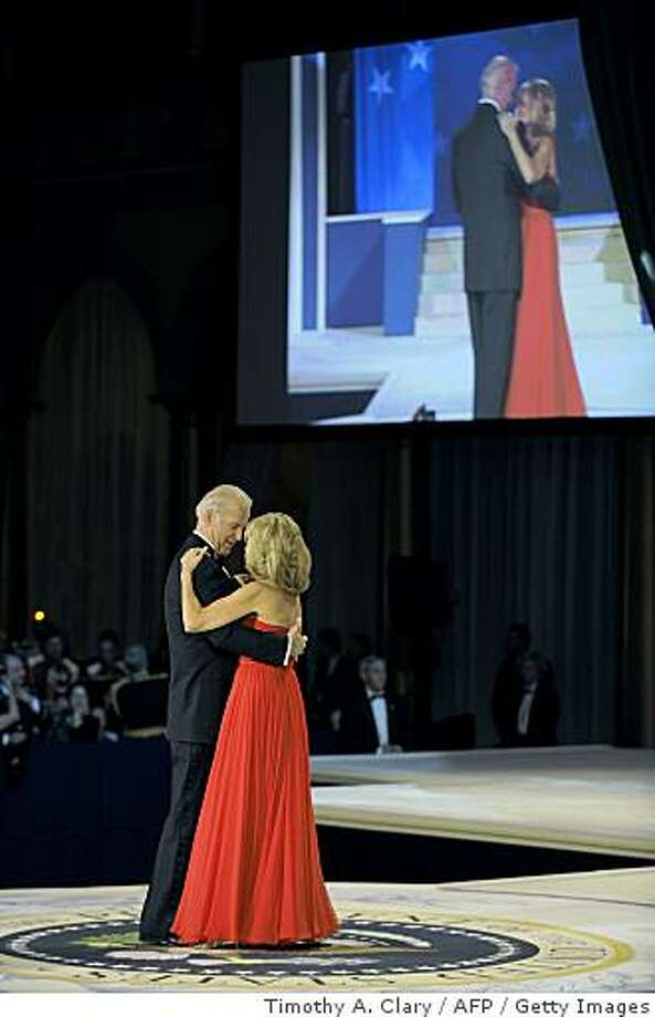Vice President Joe Biden and his wife Jill dance during the Commander in Chief's Ball at the National Building Museum in Washington January 20 2009 . Photo: Timothy A. Clary, AFP / Getty Images