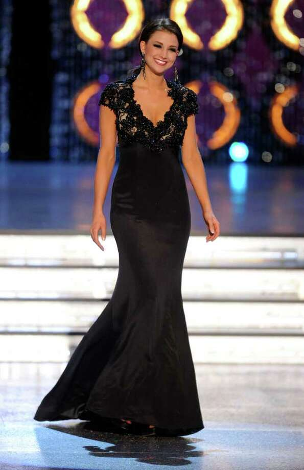 LAS VEGAS, NV - JANUARY 14:  Laura Kaeppeler, Miss Wisconsin, competes in the evening gown competition during the 2012 Miss America Pageant at the Planet Hollywood Resort & Casino January 14, 2012 in Las Vegas, Nevada. Kaeppeler went on to be crowned the new Miss America. Photo: Ethan Miller, Getty Images / 2012 Getty Images