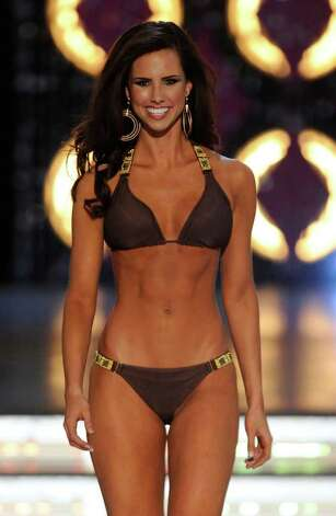 LAS VEGAS, NV - JANUARY 14:  Kendall Morris, Miss Texas, competes in the swimsuit competition during the 2012 Miss America Pageant at the Planet Hollywood Resort & Casino January 14, 2012 in Las Vegas, Nevada. Photo: Ethan Miller, Getty Images / 2012 Getty Images