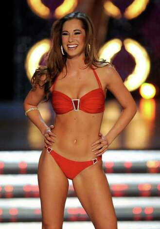 LAS VEGAS, NV - JANUARY 14:  Jennifer Sedler, Miss Arizona, competes in the swimsuit competition during the 2012 Miss America Pageant at the Planet Hollywood Resort & Casino January 14, 2012 in Las Vegas, Nevada. Photo: Ethan Miller, Getty Images / 2012 Getty Images
