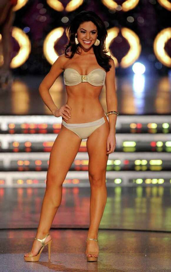 LAS VEGAS, NV - JANUARY 14:  Noelle Freeman, Miss California, competes in the swimsuit competition during the 2012 Miss America Pageant at the Planet Hollywood Resort & Casino January 14, 2012 in Las Vegas, Nevada. Photo: Ethan Miller, Getty Images / 2012 Getty Images