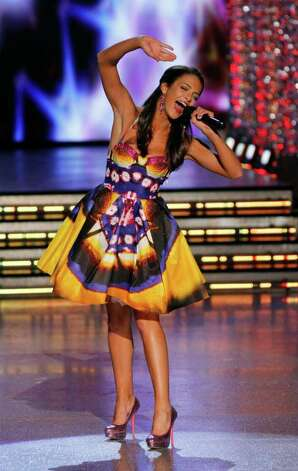 Miss New York, Kaitlin Monte competes during the 2012 Miss America Pageant Saturday Jan. 14, 2012 at The Planet Hollywood Resort & Casino in Las Vegas. Monte placed third in the Pageant while Miss Wisconsin Laura Kaeppeler went on to win. (AP Photo/Eric Jamison) Photo: Eric Jamison, Associated Press / FR156391 AP