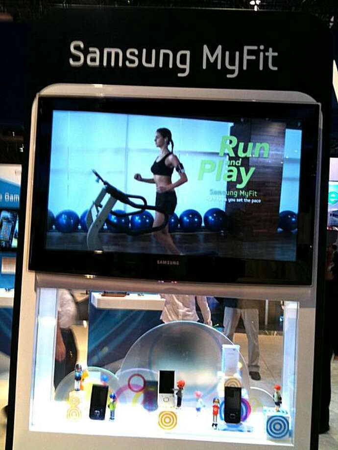 Samsung's MyFit combination MP3 player and digital personal fitness guru. Photo: Jeff Yang
