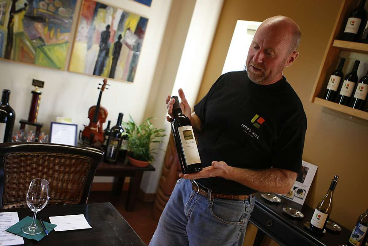 Mike Mitchell, the tasting room lead, at Judd's Hill winery in Napa in Calistoga, Calif., on Tuesday, Oct. 18, 2011.