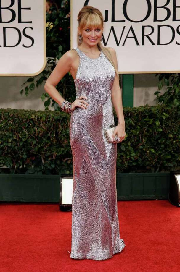 Nicole Richie arrives at the 69th Annual Golden Globe Awards Sunday, Jan. 15, 2012, in Los Angeles. Photo: AP