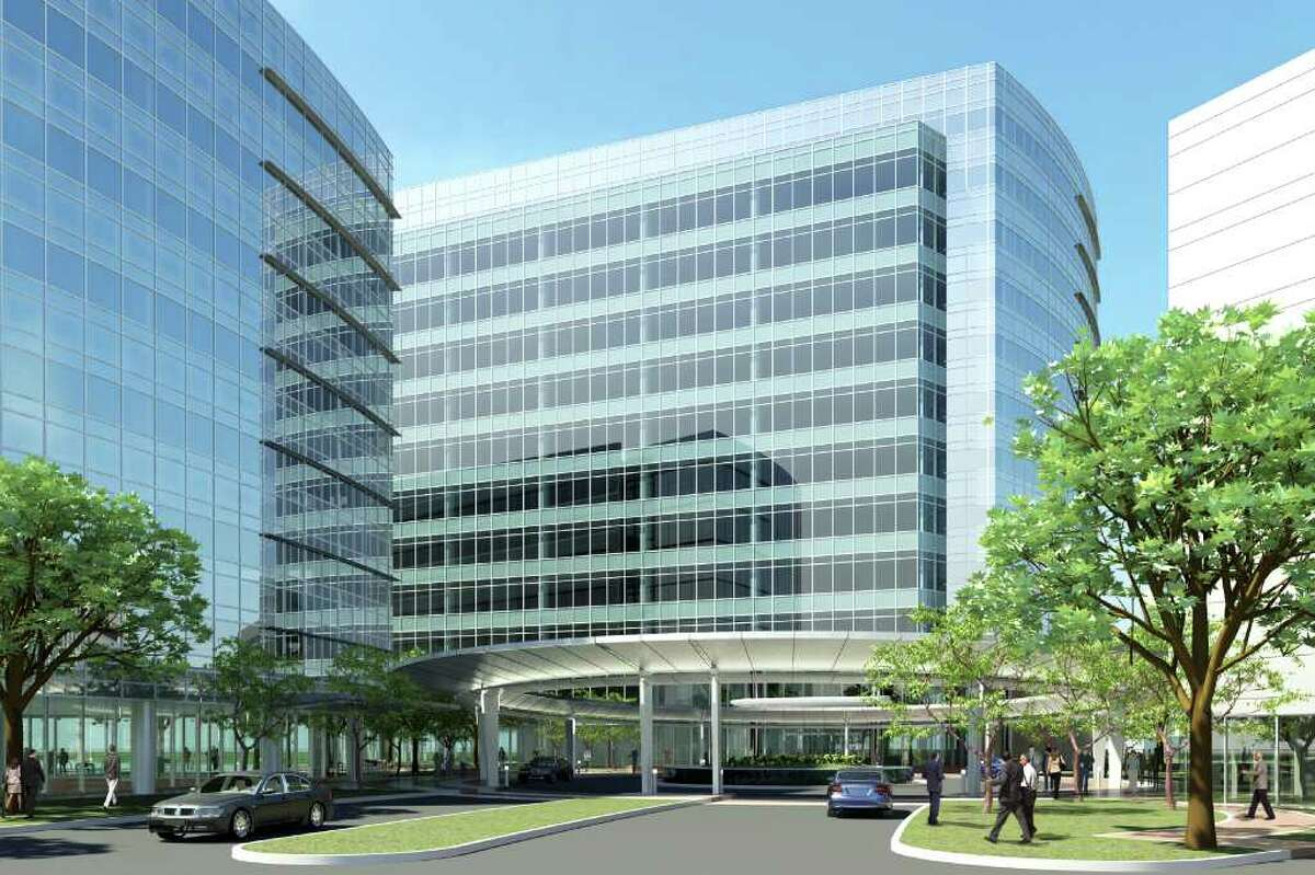 The rendering shows office buildings in Research Forest Lakeside. Talisman Energy USA will occupy 218,000 square feet in the business park.
