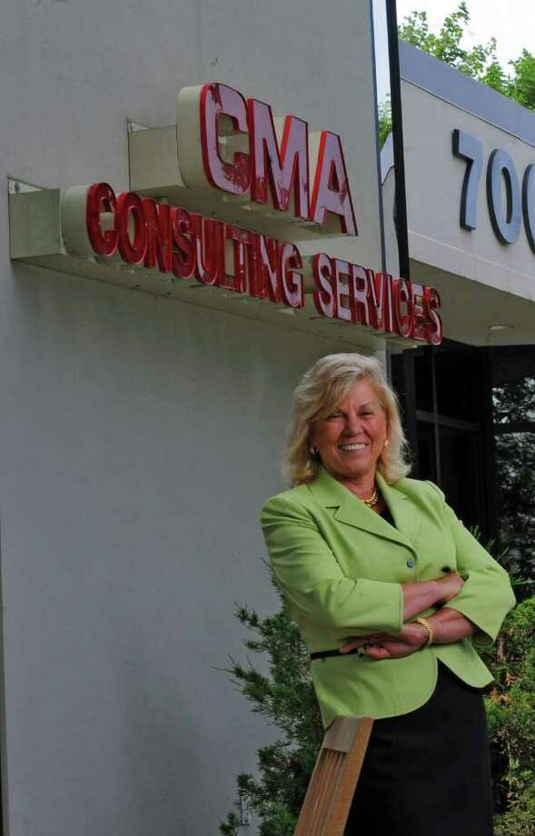 Kay Stafford, President of CMA Consulting Services, talks about her company's 25 years in business,  at CMA's Latham, NY offices on Wednesday June 17, 2009.  (Philip Kamrass  /  Times Union) Photo: PHILIP KAMRASS / 00004369A