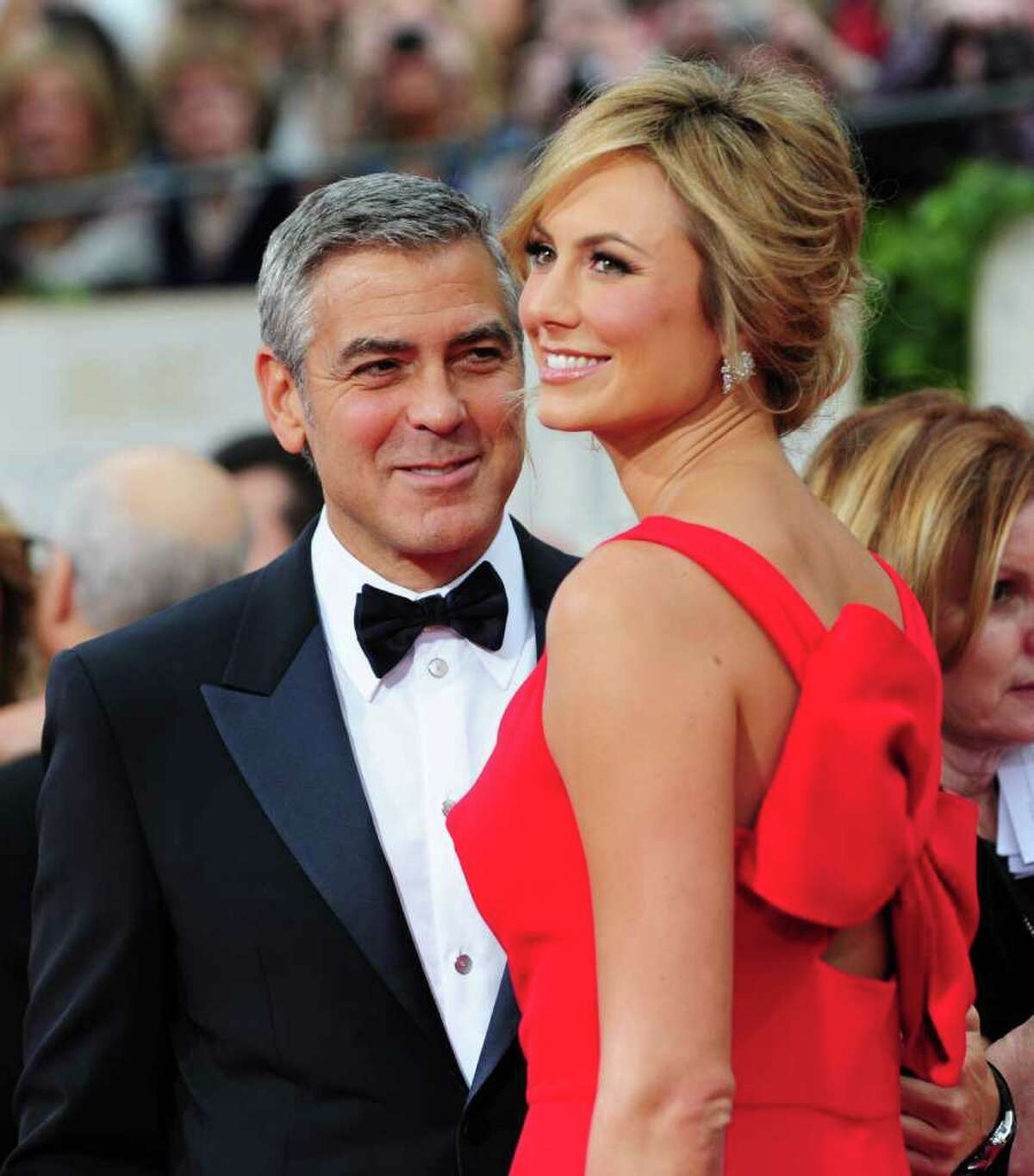 George Clooney's girlfriend Stacy Keibler was once a cheerleader for the Ravens.