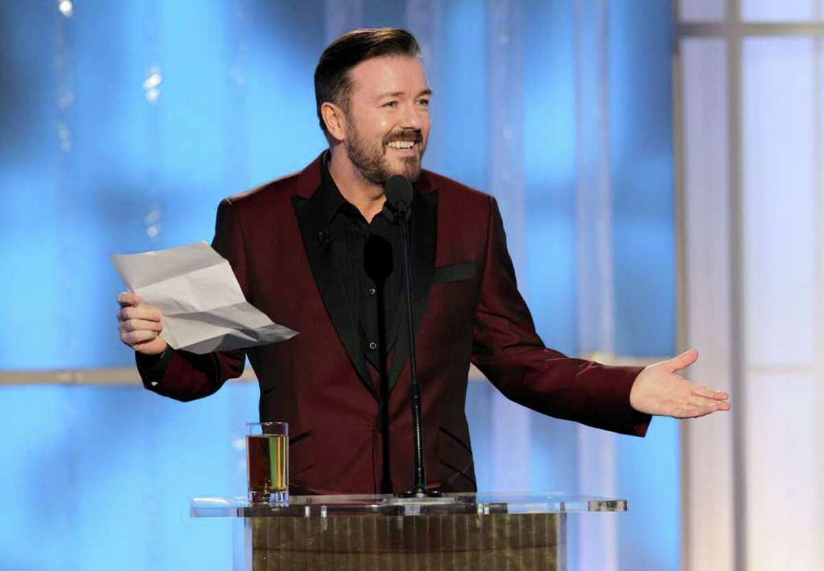 Golden Globes presenter Ricky Gervais goes over a list of guidelines he said the Hollywood Foreign Press gave him to follow, including no profanity or nudity, no libeling anyone and no mentioning Mel Gibson.