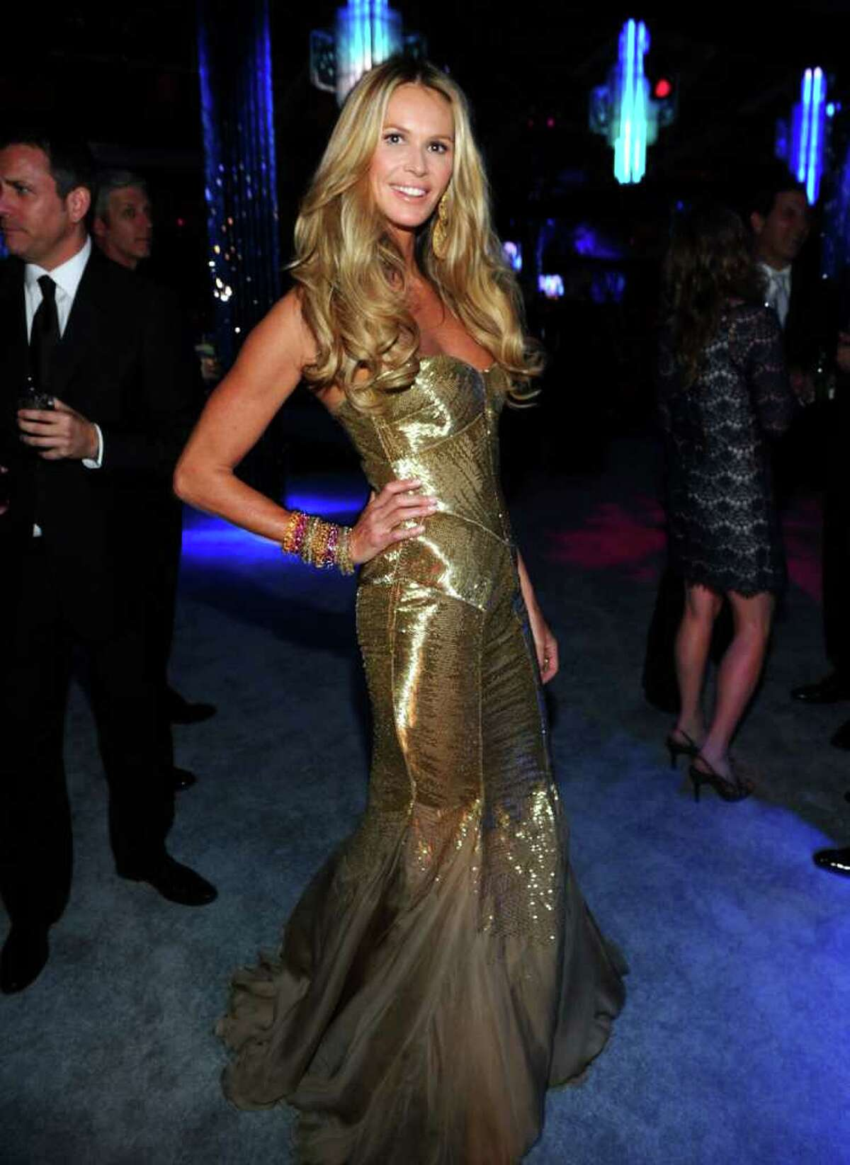 Model/actress Elle Macpherson attends NBCUniversal's 69th Annual Golden Globes Viewing and After Party Sponsored By Chrysler and Hilton at The Beverly Hilton hotel on January 15, 2012 in Beverly Hills, California.
