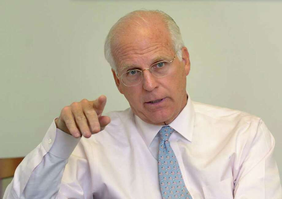 Former Congressman Christopher Shays, shown here in 2008. Photo: Autumn Driscoll, File Photo / Connecticut Post