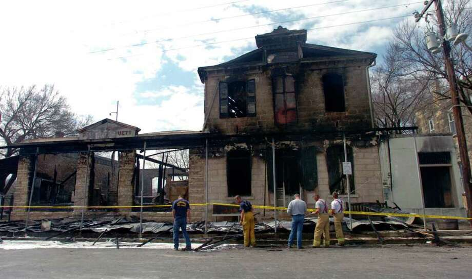 The Ingenhuett General Store, destroyed by a 2006 fire, was bought by Craig and Jeanine Leeder who plan to restore it. Photo: Express-News File Photo