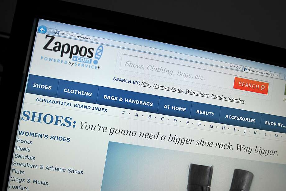 This January 16, 2012 photo shows a view of the online shoe seller Zappos.com. Zappos.com was notifying some 24 million customers Monday that a hacker had gained entry to its computer network, but said credit card data was not affected. Zappos, which claims to have more than $1 billion in annual sales of shoes and other merchandise, said it had invalidated the current passwords of customers, requiring them to reset their accounts.AFP PHOTO/ Karen BLEIER (Photo credit should read KAREN BLEIER/AFP/Getty Images) Photo: Karen Bleier, AFP/Getty Images