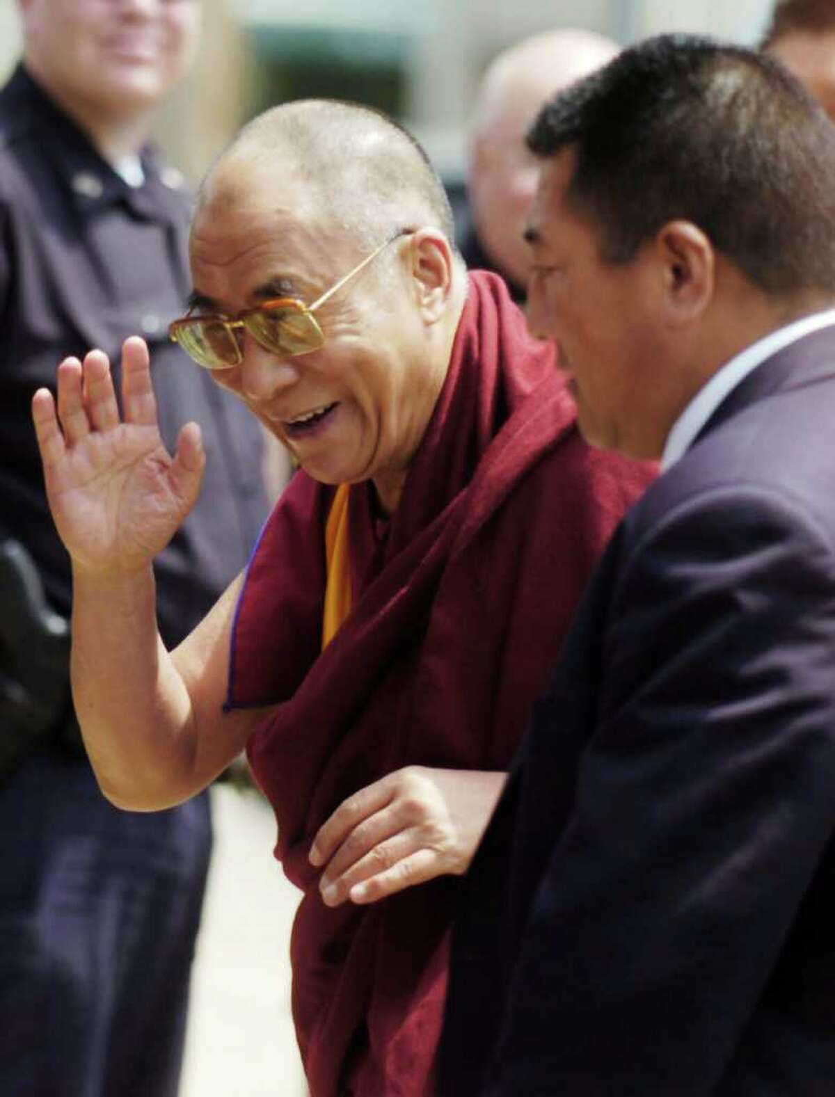 His Holiness The 14th Dalai Lama of Tibet will be coming to Western Connecticut State University in Danbury in October for two days of talks. File/Kathleen O'Rourke/Staff photo Staff