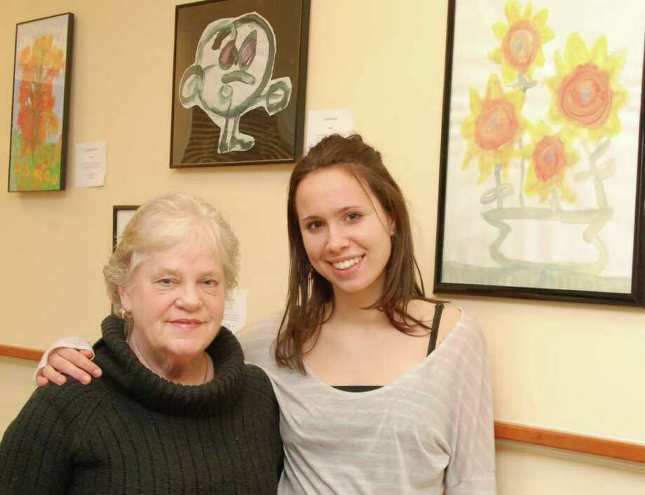 Executive director Brooke Manning-Hinds, left, with volunteer Grace Poudrier. Photo: Contributed Photo