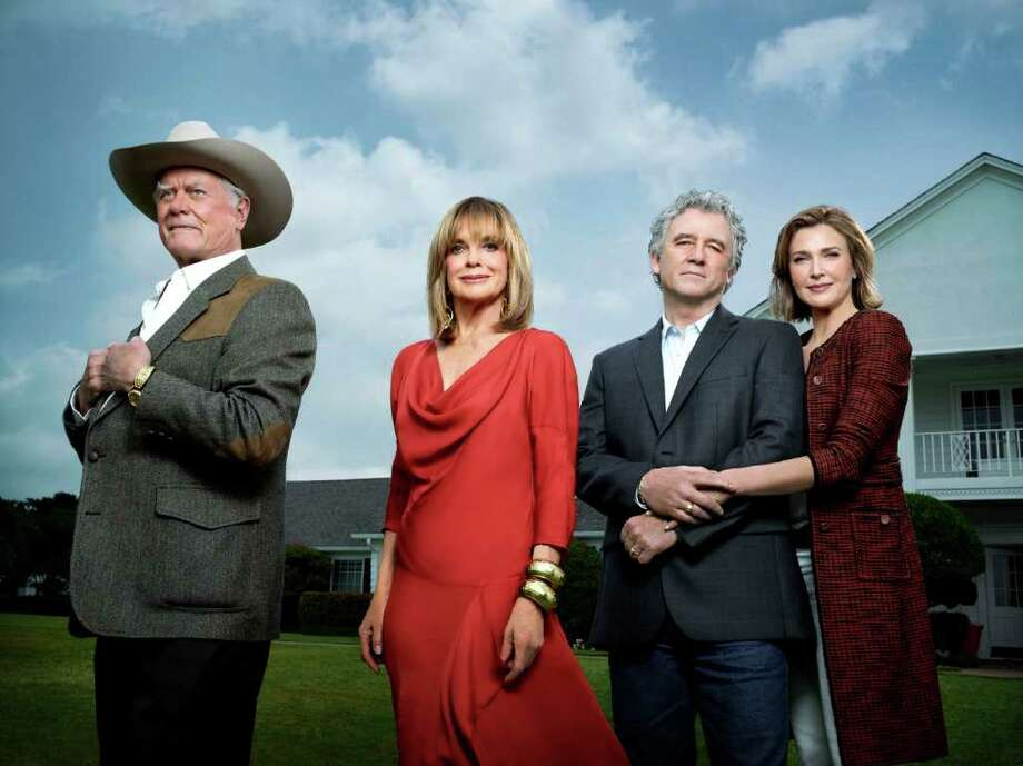 "Larry Hagman, from left, Linda Gray, Patrick Duffy and Brenda Strong star in the new ""Dallas."" Photo: TNT"