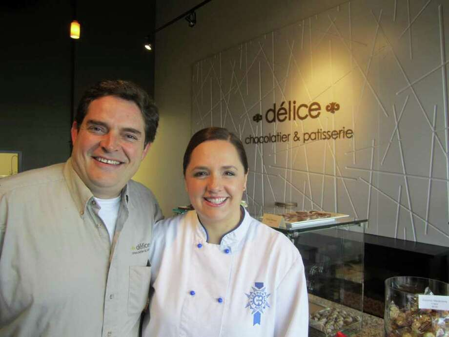Chef Susana Mijares and husband Ignacio Aguirre, originally from Torreon, Coahuila in Mexico, are bringing handmade Belgium chocolate to San Antonio at Délice Chocolatier & Patisserie. Photo: Jessica Elizarraras