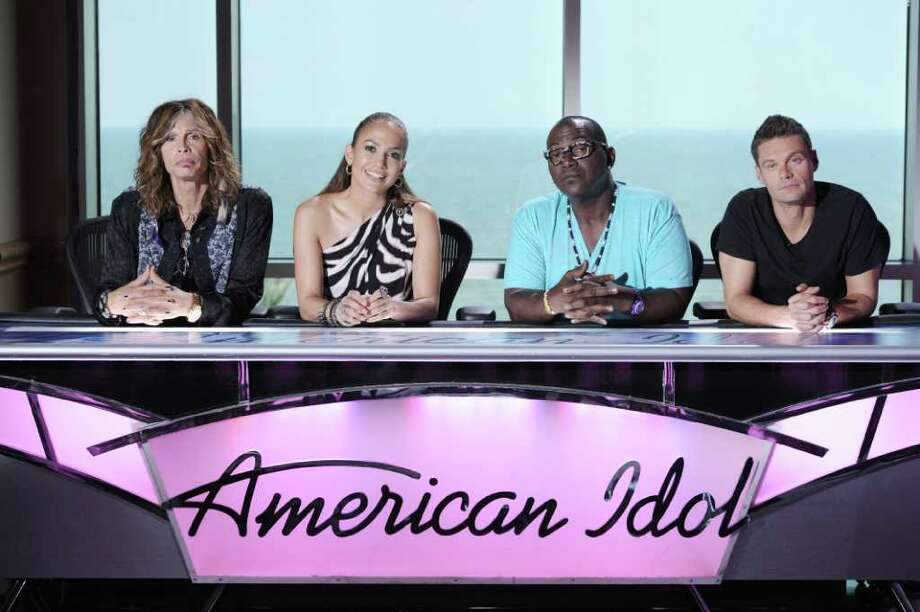 "Steven Tyler, from left, Jennifer Lopez, Randy Jackson and  Ryan Seacrest return for the new season of ""American Idol.""  Photo: Fox"