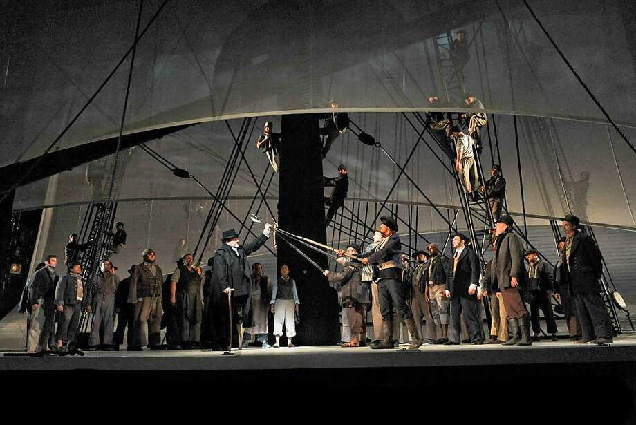 "Ben Heppner as Ahab and the cast of Jake Heggie's ""Moby Dick"" at Dallas Opera Photo: Karen Almond/Dallas Opera"