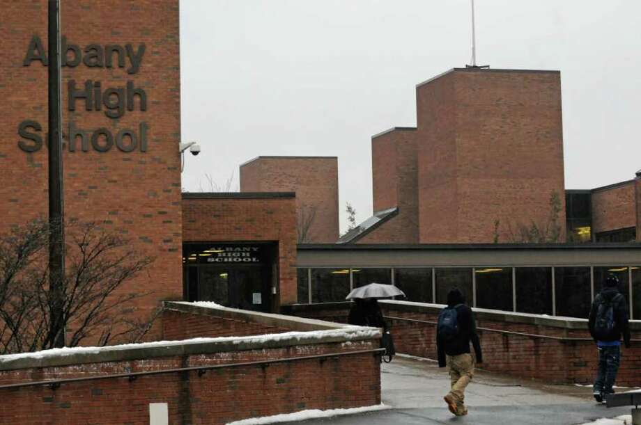 Albany High School on Washington Avenue in Albany,NY Tuesday, Jan.17, 2012. ( Michael P. Farrell/Times Union) Photo: Michael P. Farrell