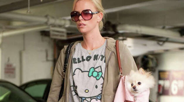 Charlize Theron and Dolce in Ivan Reitman's