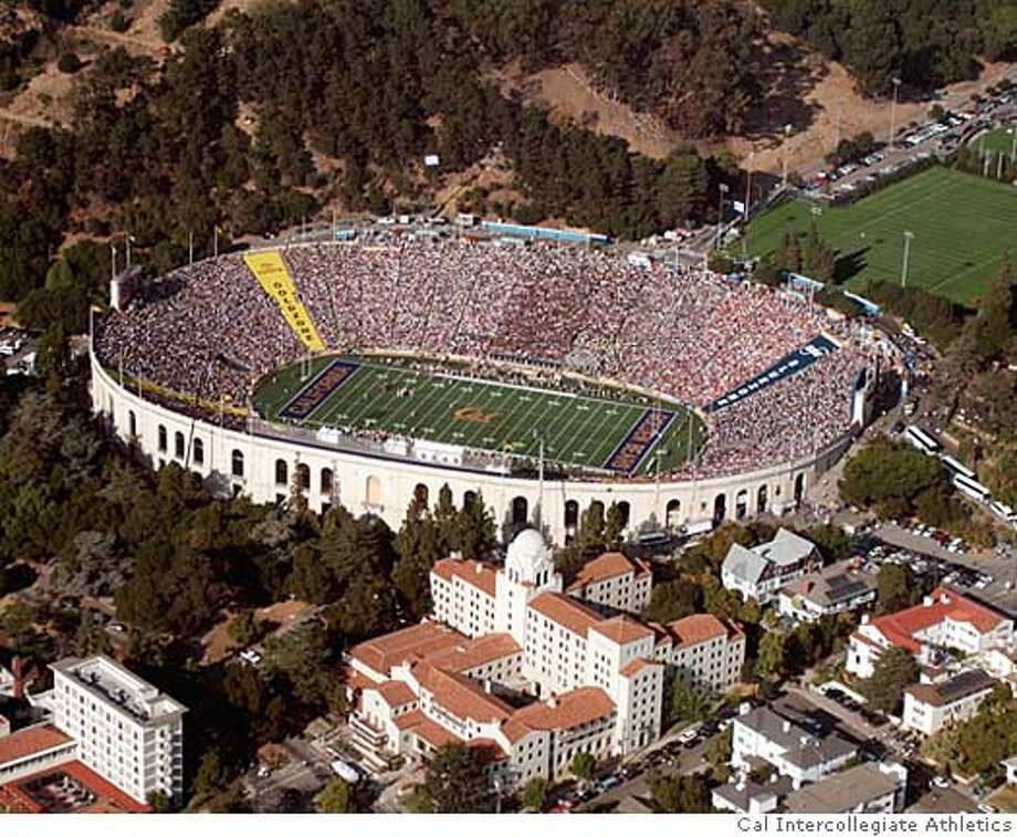 Seismic concerns and lawsuits over removing oak trees and potential increased traffic have delayed construction of a new stadium to replace Memorial Stadium at UC Berkeley. Photo courtesy of Cal Intercollegiate Athletics