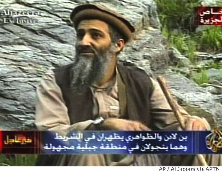 Bin Laden and deputy appear on Arab TV / Voice on tape urges