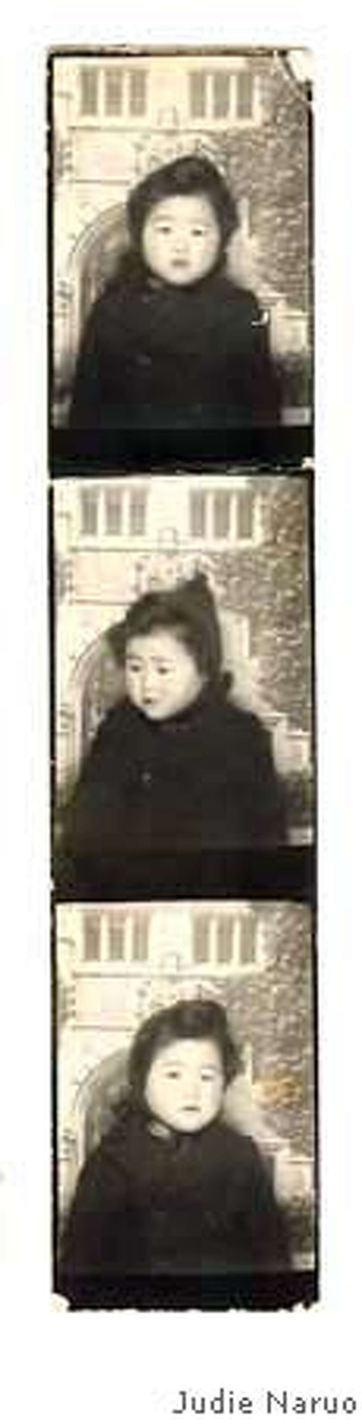 Judie Naruo, of Tanforan race track, as a baby. Photo courtesy of Judie Naruo