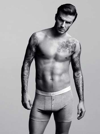David Beckham wears knit boxer shorts he designed for Swedish-based H&M that will launch his collection in a Super Bowl ad Feb. 5. The nine-piece Bodywear Collection can be purchased at three Texas H&M stores in Dallas, Plano and Mesquite. Photo: Courtesy H&M,  Photographer: Alasdair McLellan,  Stylist: Michael Philouze