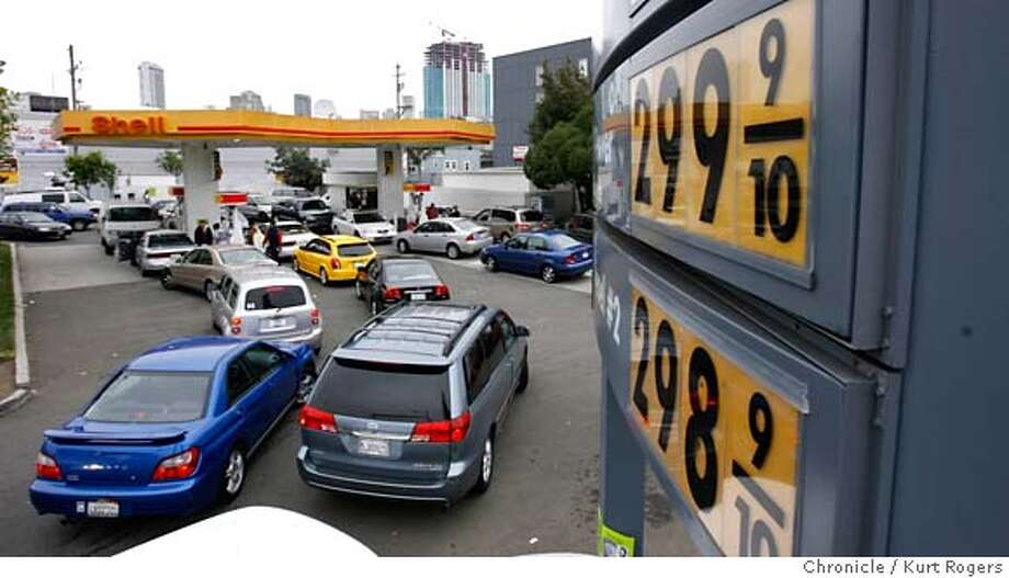 The Shell gas station at the corner of 6th in Harrison is going out of business and lowered it price of gas to $2.98 a gallon.  THURSDAY, MAY 31, 2007 KURT ROGERS SAN FRANCISCO SFC  THE CHRONICLE Photo: KURT ROGERS