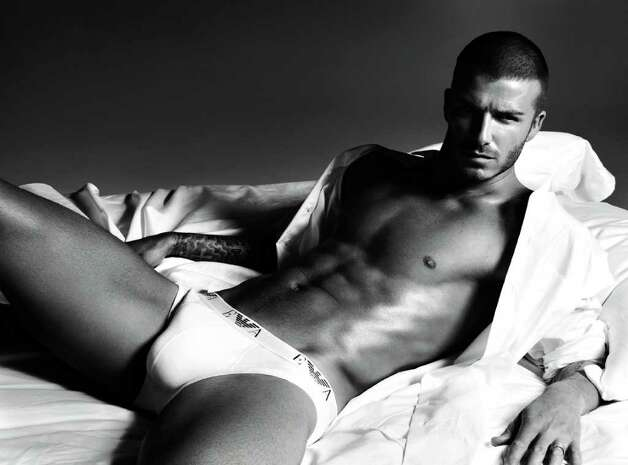 David Beckham is anything but shy in this photo by Mert Alas and Marcus Piggott who shot the Giorgio Armani underwear campaign that featured the soccer player. Photo: Courtesy Photo
