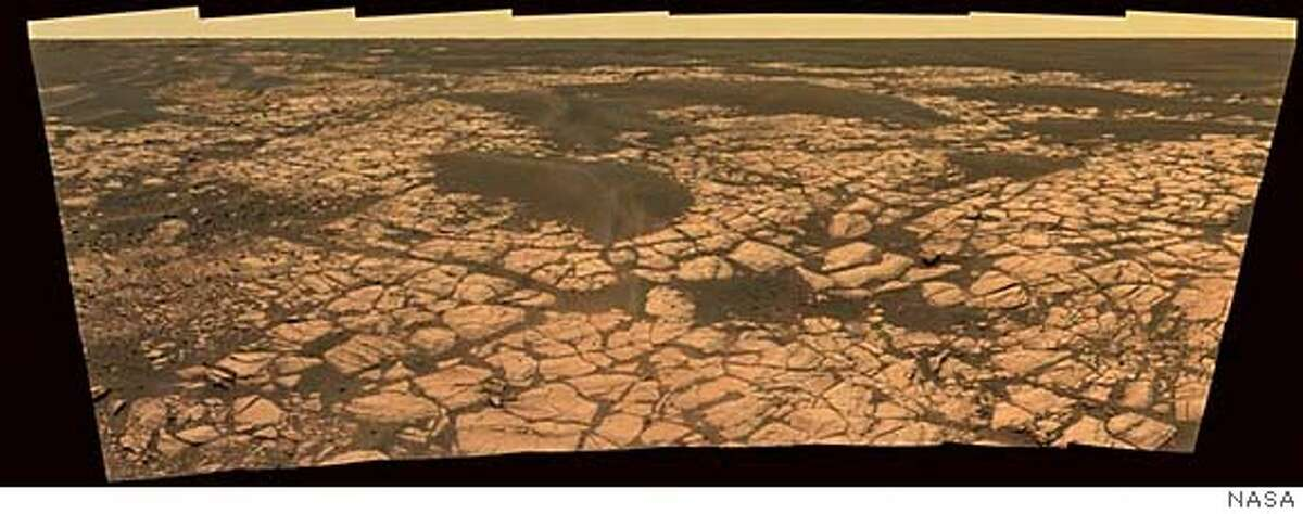 NASA's Mars Opportunity rover captured this image of an outcrop called