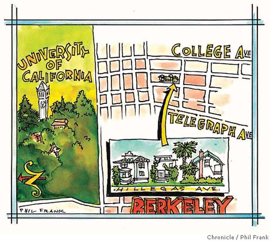 Berkeley. Chronicle illustration by Phil Frank