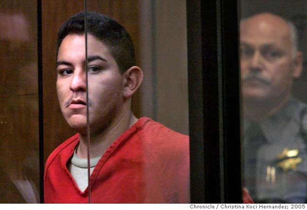 """CHRISTINA KOCI HERNANDEZ/CHRONICLE Irving Ramirez, 23, is scheduled to be arraigned in the slaying of San Leandro police officer Nels """"Dan"""" Niemi. Ramirez might be charged with murder and special circumstances that could lead to the death penalty if convicted. Ran on: 07-29-2005 Irving Ramirez appeared in court in connection with the slaying of police officer Nels Dan Niemi."""
