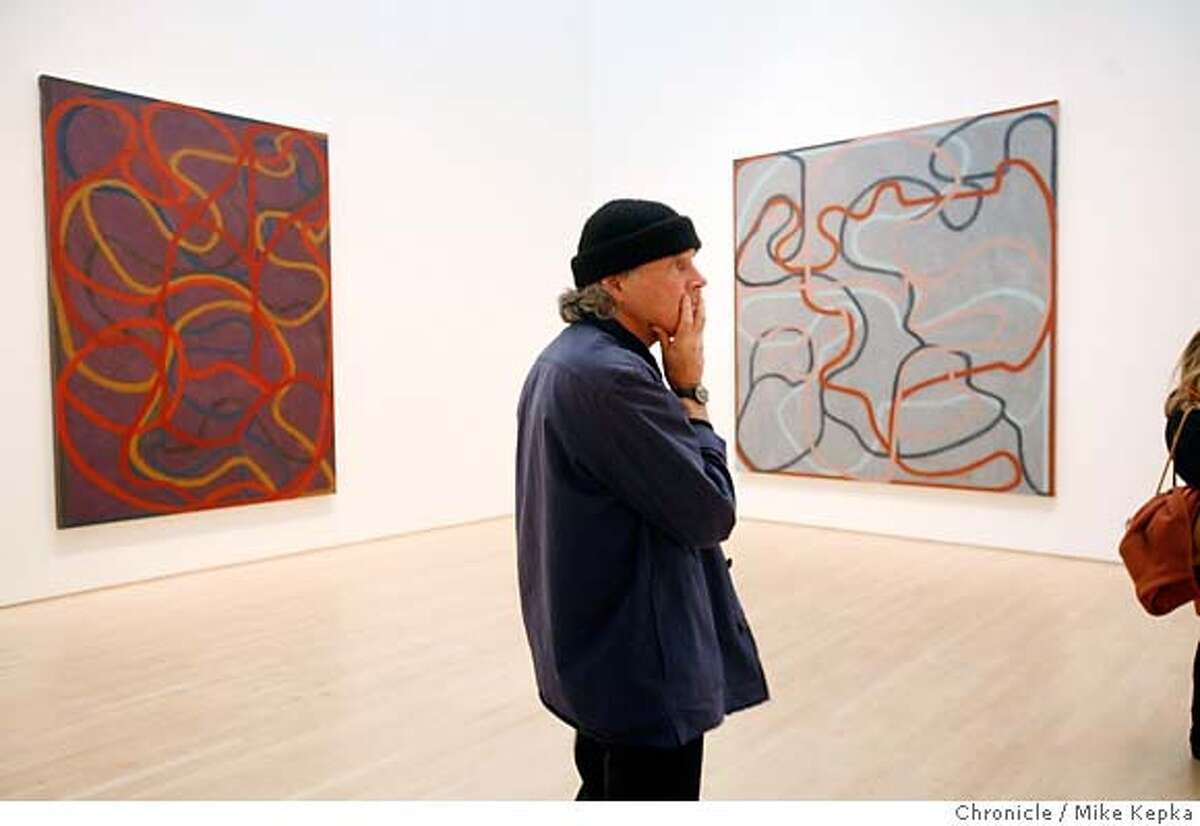 bricemarden0400072_mk.JPG New York artist Brice Marden, who said he felt like it was good to see his more recent works hung in this room, has a new show opening at SFMOMA this week. 2/21/07. Mike Kepka / The Chronicle Brice Marden (cq) the source MANDATORY CREDIT FOR PHOTOG AND SF CHRONICLE/NO SALES-MAGS OUT