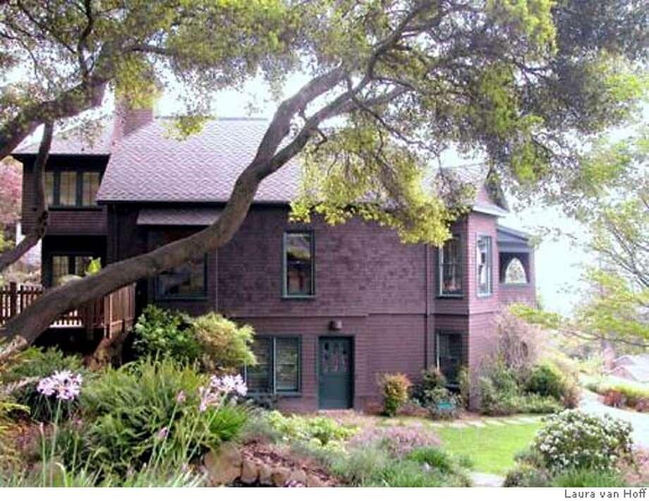 The three-story Jensen House at 1675 La Loma Avenue is a Berkeley landmark. Photo by Laura van Hoff