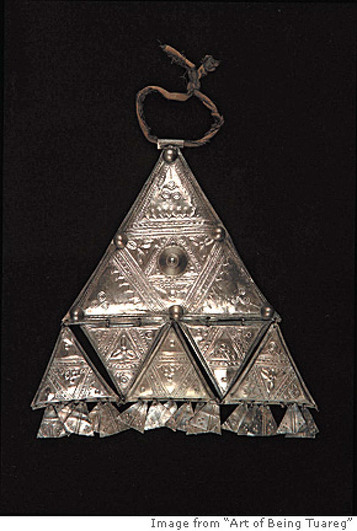 """Tuareg Tamanrasset, Algeria """"Pectoral Pendant"""", c.unknown Silver 9.25 x 9.65 x .55 inches Musee du Quai Branly"""