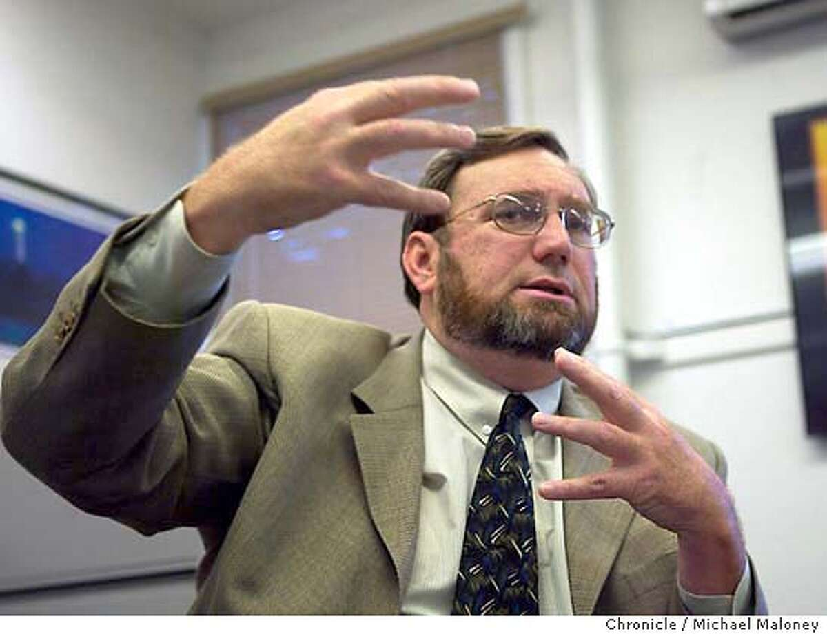 Mark Graff, Chief Cyber Security Officer at Lawrence Livermore National Laboratory, tells us what to expect from future viruses and other Internet security threats. Event on 8/28/03 in Livermore. MICHAEL MALONEY / The Chronicle