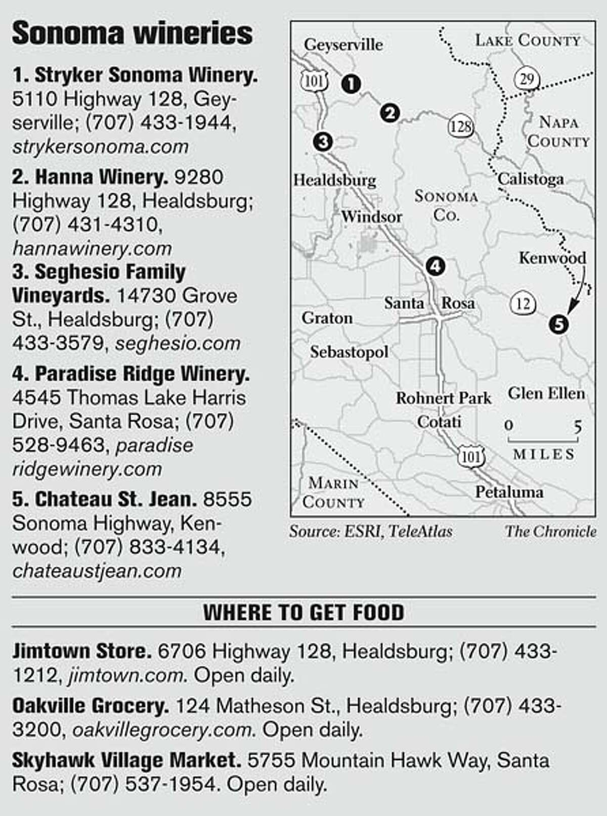 Sonoma wineries. Chronicle Graphic