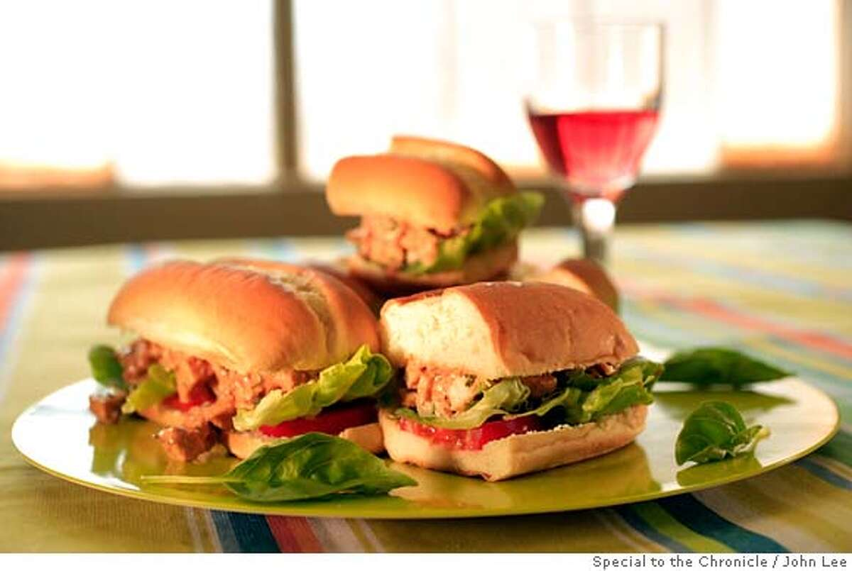 PAIRINGS25_04_JOHNLEE.JPG Barbecue Chicken Salad Sandwich. By JOHN LEE/SPECIAL TO THE CHRONICLE