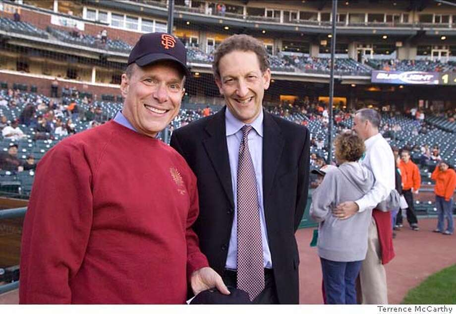 Larry Baer of the Giants and David Gockley (photo by Terrence McCarthy) Photo: Terrence McCarthy