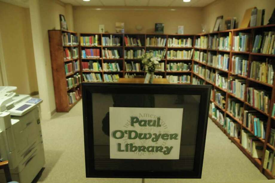 "A view of the Paul O'Dwyer Library at Irish American Heritage Museum on Tuesday, Jan. 17, 2012 in Albany, NY.  The museum located at 370 Broadway in the city occupies a 3,000-square-foot space in the historic Meginniss Building.  The exhibit up is entitled ""Dublin, Then and Now"", which consists of photographs by American photographer Marvin Koner from 1963 along with photographs from Declan Corrigan taken in 2003.  (Paul Buckowski / Times Union) Photo: Paul Buckowski"