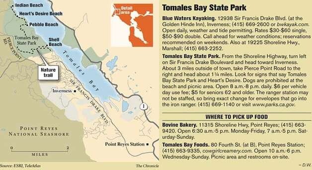 Tomales Bay State Park. Chronicle Graphic