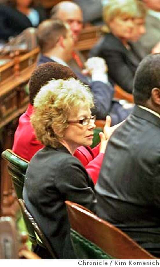 Assembly member Carol Migden in the audience as California Gov. Arnold Schwarzenegger gives the 2007 State of the State Address.  Photo by Kim Komenich/The Chronicle Photo: Kim Komenich