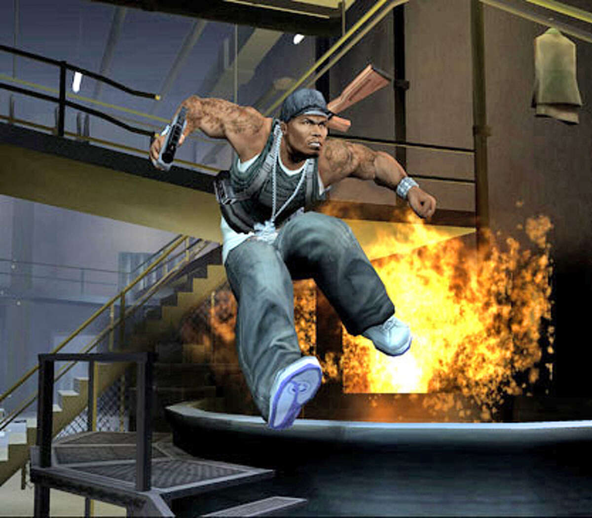 The game is 50 Cent: Bulletproof for the PlayStation 2 and Xbox.