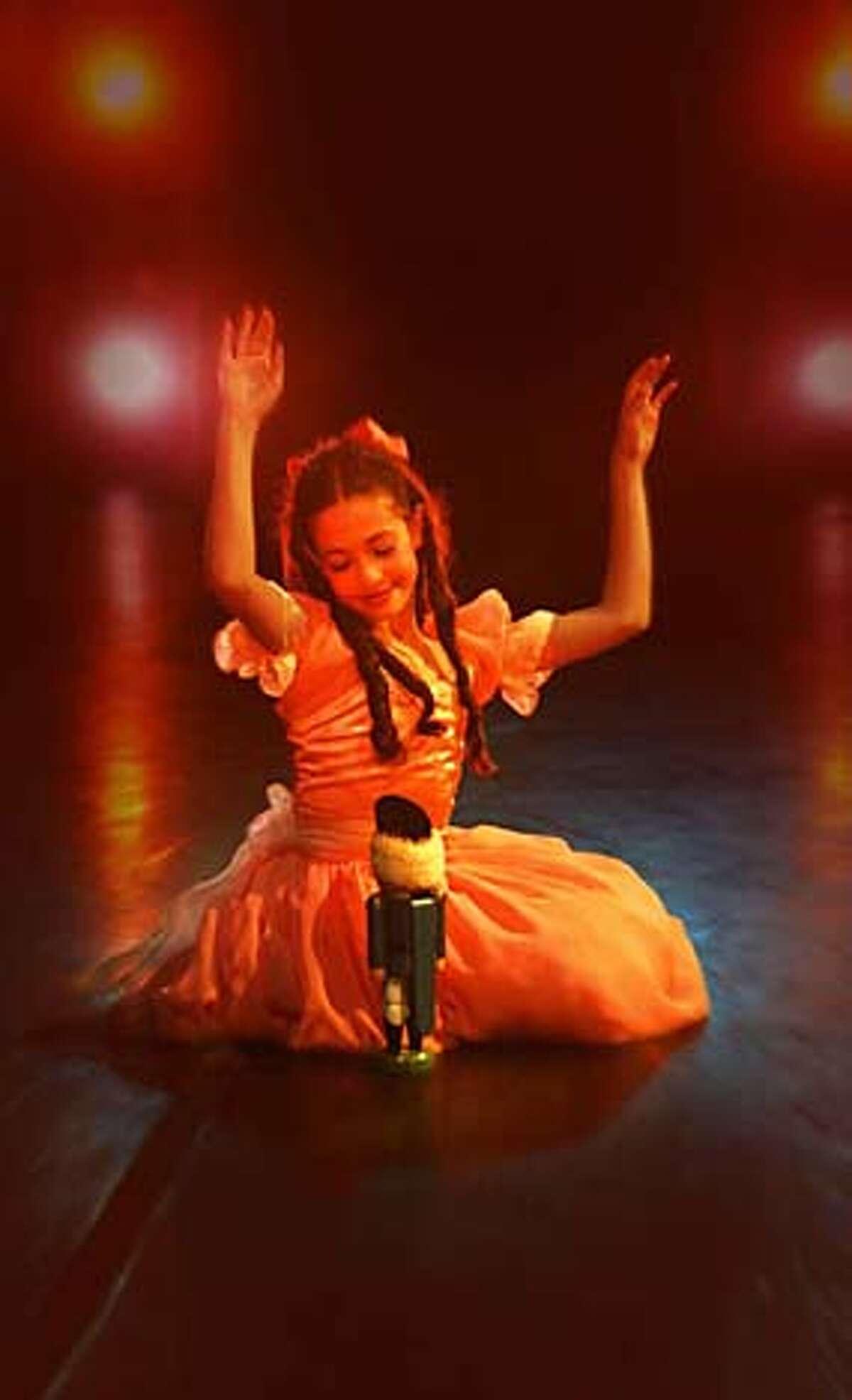 "Isabella Olivera as Clara in City Ballet School's production of ""The Nutcracker"""