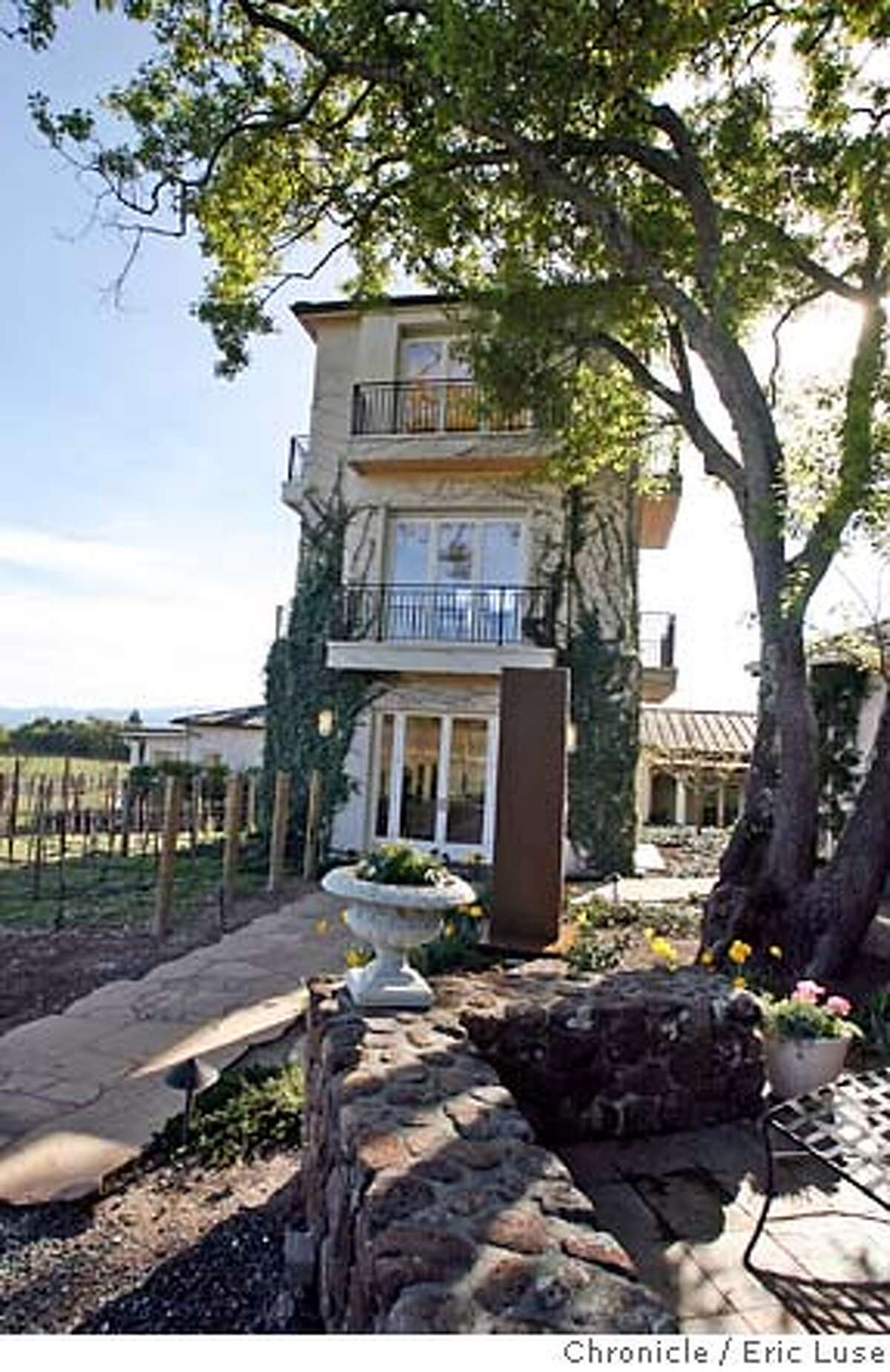 .JPG Craig's office tower has a sweeping view of the vineyards Craig and Kathryn Hall's home in Napa. Photographer: Eric Luse / The Chronicle names cq from source MANDATORY CREDIT FOR PHOTOG AND SF CHRONICLE/NO SALES-MAGS OUT