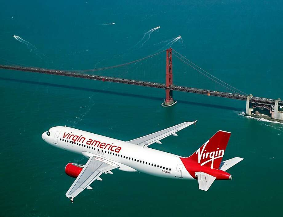 In this Dec. 15, 2011 photo, a Virgin America jet near San Francisco, Calif. Virgin America said Tuesday, Jan. 17, 2012, it will start flying to and from Philadelphia in April. Photo: Associated Press