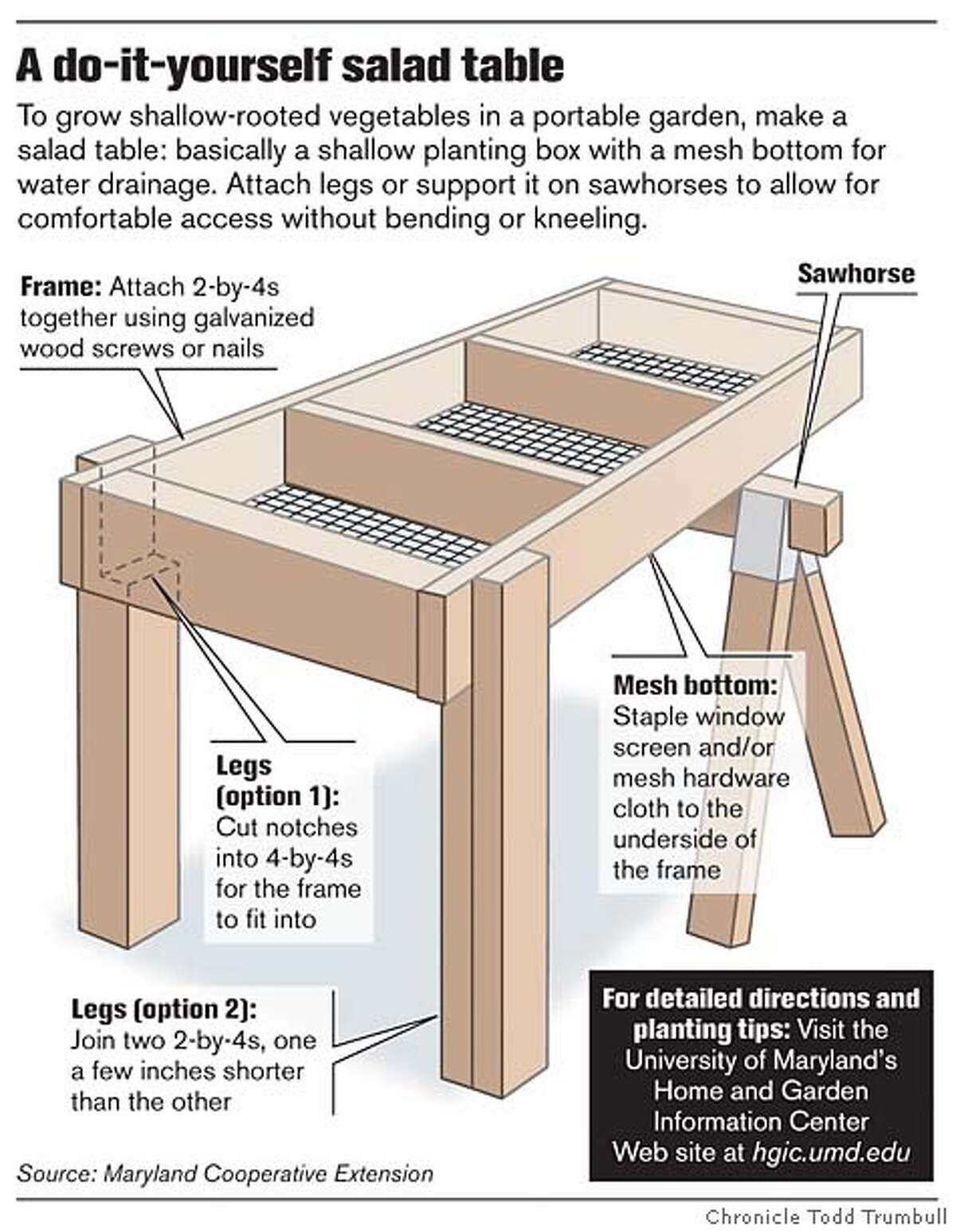 A do-it-yourself salad table. Chronicle graphic by Todd Trumbull
